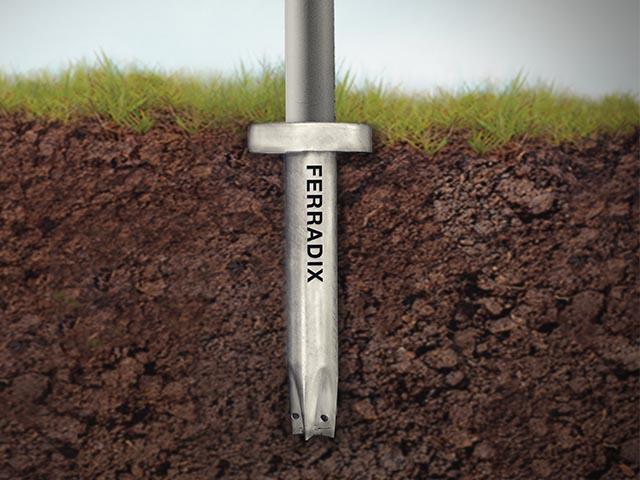 Betonsparende Befestigung mit Ferradix-Bodendübeln