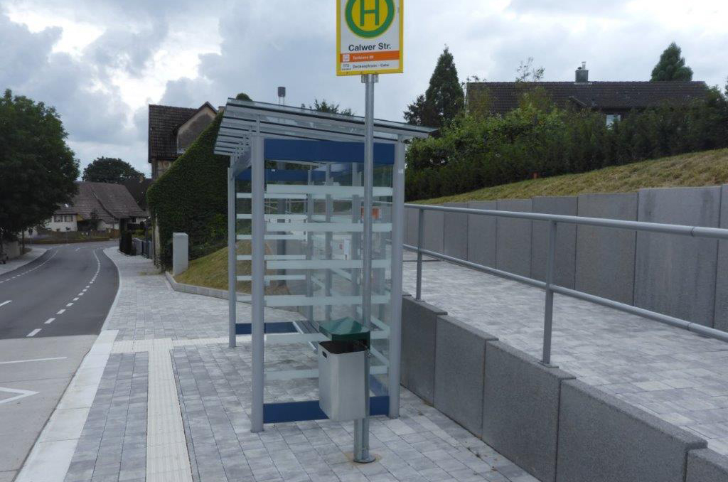Herrenberg-Oberjesingen - Neue Ortsdurchfahrt Bushaltestelle